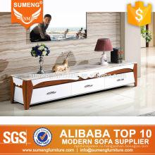 Китай поставщик современный дизайн мраморный топ твердой древесины ТВ шкаф