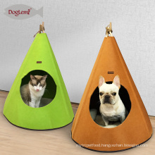 2017Doglemi Hot Selling Cheap Felt Foldable Pet Dog Cat Cave House