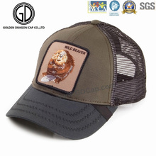 Heißer Einzelteil-Baseball-Baumwoll-Fernlastfahrer-Hut mit DIY Entwurfs-Abzeichen