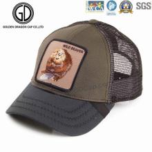 Artigo quente Chapéu de camionê de algodão de beisebol com emblema de design de DIY