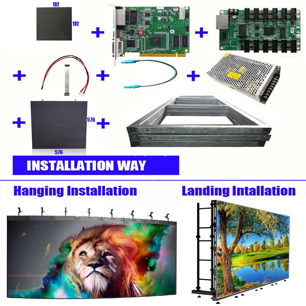576x576 led wall panel