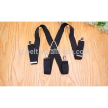 Mens elastic suspenders belt with 3.5cm width