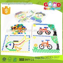 Los sistemas de madera vendedores calientes de los granos de la joyería de la alta calidad del OEM fijan los juguetes educativos MDD-1017
