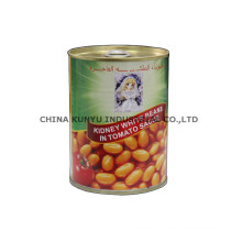 Feijão branco em latas com alta qualidade