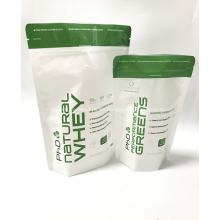Plastikprotein-Puder stehen oben Verpackungstasche