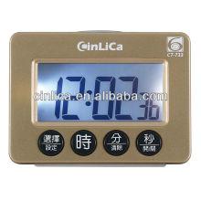 6 set countdown digital secretária despertador