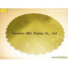 Forme ronde de vente chaude avec des tambours de gâteau de bords de fleur, Eco-Friendy avec SGS (B et C-K075)