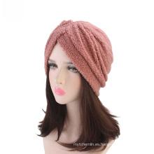 Cabello crochet headwrap pañuelos al por mayor hijab musulmán