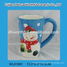Hochwertige Weihnachtskeramik Schneemann Wasser Tasse