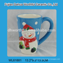 High quality Christmas ceramic snowman water cup