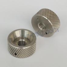 Präzisions-CNC-Drehmaschine Edelstahl-Verschlusskragen mit Rändelung
