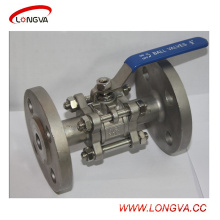 Stainless Steel Sanitary 3-Piece Double Flange Ball Valve