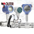 LWGY manufacturer high accuracy 4-20mA pulse 24VDC intelligent oil liquid gas turbine flow meter with LCD