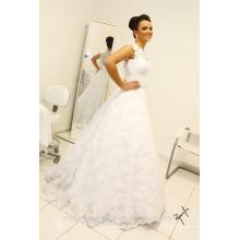 Vintage manches longues robes de mariée jupe amovible robe de mariage Robes de mariée en dentelle en dentelle CWF2331