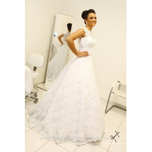Vintage Sleeveless Long Bridal Gowns Removable skirt robe de mariage Lace Ball Gown Wedding Dresses CWF2331