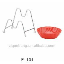 Одиночная решетка для кухонной посуды с металлическими решетками