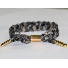 2016 moda drawstring com aglet de ouro de metal e pulseira de charme anel