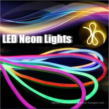 80led / m Epistar levou chip DIP levou neon flex verde SMD5050 RGB Jacket 110 v verde levou néon flex corda de luz