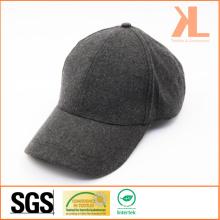 Polyester et laine de qualité chaude plaine gris casquette de baseball