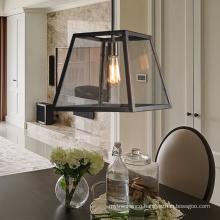 Vintage Indoor Decorative Glass Iron Chandelier Light Fixture For Restaurant