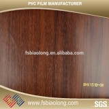Modern pvc wood grain film manufacturers for covering furniture