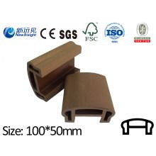 PE WPC Handrail WPC Railing WPC Fecne with SGS CE ISO Fsc Wood Plastic Composite Railing Handrail Lhma050