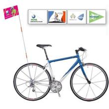 Bandera de bicicleta promocional personalizada con impresión de logotipo