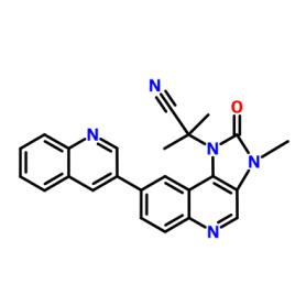 915019-65-7 2-Methyl-2-(4-(3-methyl-2-oxo-8-(quinolin-3-yl)-2,3-dihydro-1H-imidazo[4,5-c]quinolin-1-yl)phenyl)propanenitrile
