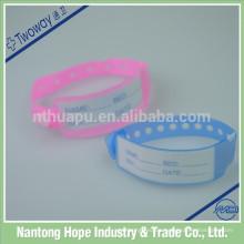 Pulseras plásticas médicas de la identificación del hospital
