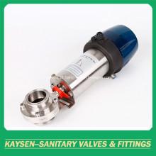 Braçadeira pneumática inteligente sanitária 3A / SMS da válvula de borboleta