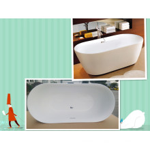 "Upc 67"" Oval Double Slipper Freestanding Soaking Bath Tub"