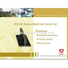 2014 последние горячие продукт высокого качества, Лифт руководство железнодорожных, алюминиевые направляющие, конвейерных направляющих, SN-GR