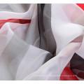 Lady Fashion Polyester Chiffon Seidentuch mit Streifen Druck (YKY1004)