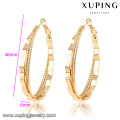 91658 Xuping 2016 gold plated Handmade round shape Earring without stone
