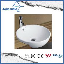 Lavabo de la cerámica del arte del gabinete y lavabo de la tapa de la vanidad (ACB8029)