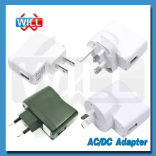 Alta calidad UE US AU UK ac / dc usb adaptador de corriente