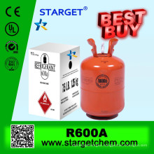refrigerant gas R600A in 926L /800L/400L/118L refillable cylinder
