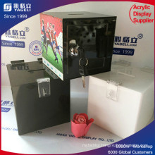 Modern Stylish Floor Standing Acrylic Donation Box