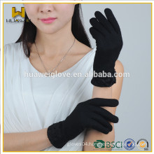 2015 Fashion Black Wool Gloves,Sheep Wool Gloves TouchScreen Customed