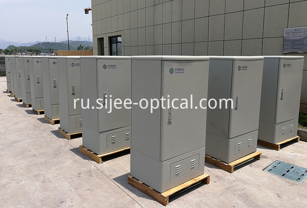 Fiber Optical Cross Connect Cabinets in workshop