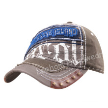 (LW15032) Custom Stone Washed-out Cotton Cap with Leather