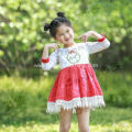 girls boutique linen christmas dress