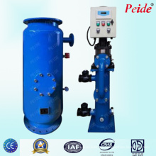 Sistema de limpieza de tubo condensador para descalcificación de agua HVAC
