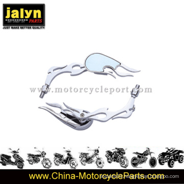 Teardrop Chromed Plated Motorcycle Side Rearview Mirror for Universal