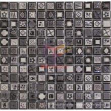 Grey Natural Pattern Glazed Ceramic Mosaic Tiles (CST081)