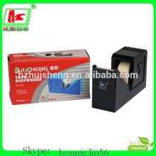 Dispensadores de fitas de papelaria, distribuidor de fita pequena de plástico de novidade