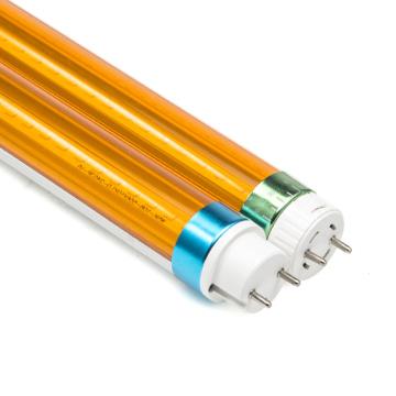Filer 480nm-520nm  Anti-UV T8 Led Yellow Tube