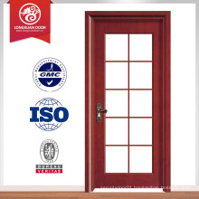 Double tempered glass design wood door, glass kitchen door design                                                                         Quality Choice