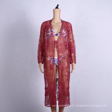 été crochet femmes vêtements plage cover ups robe