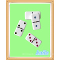 Double 6 colorful paint domino with black plastic box
